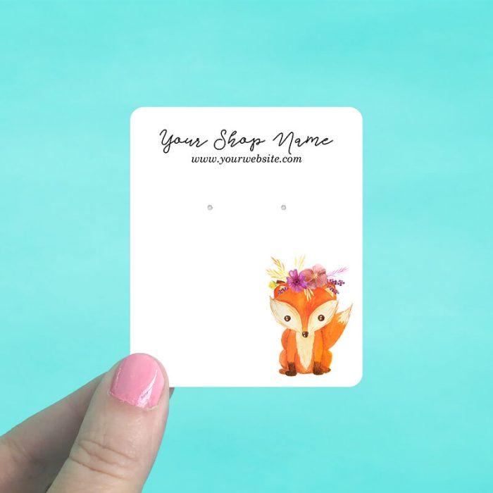 Baby Fox Jewelry Display Cards