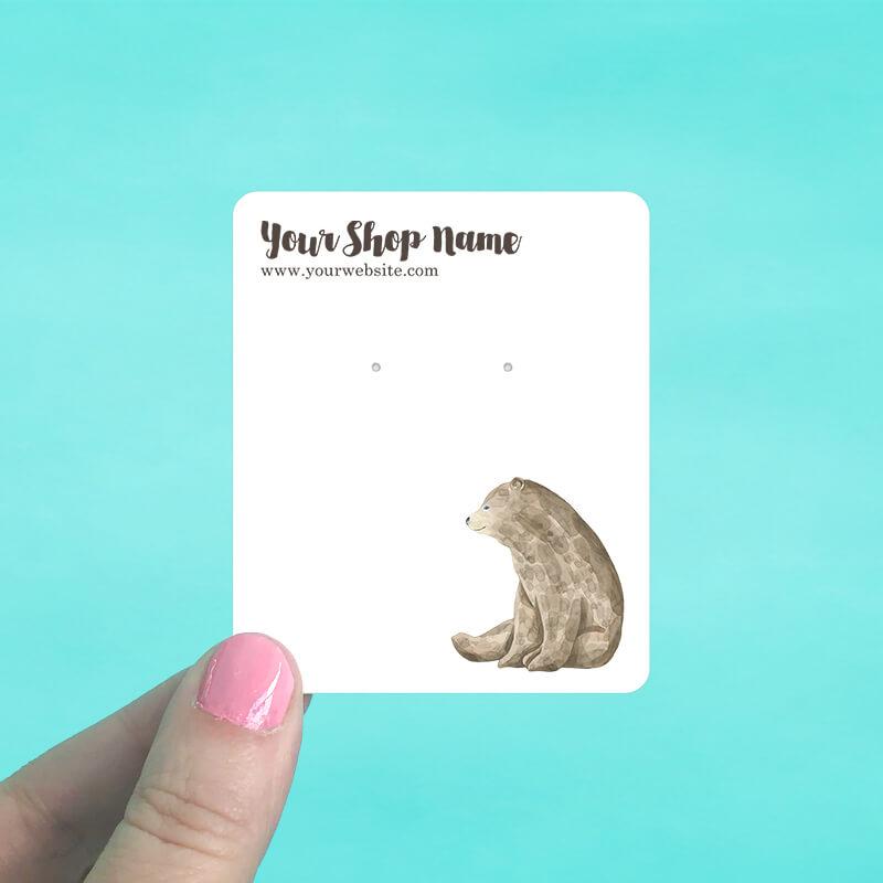 Brown Bear Jewelry Display Cards
