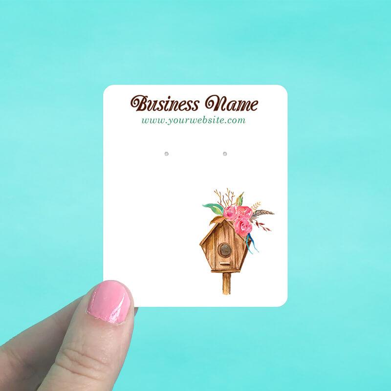 Bird House Jewelry Display Cards