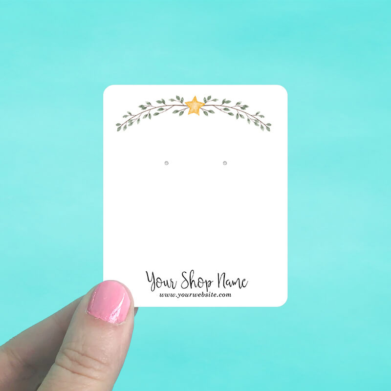 Star & Branches Jewelry Display Cards