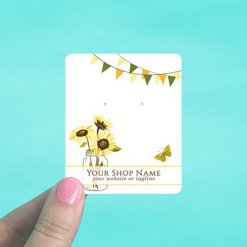 Sunflowers & Banners Jewelry Display Cards