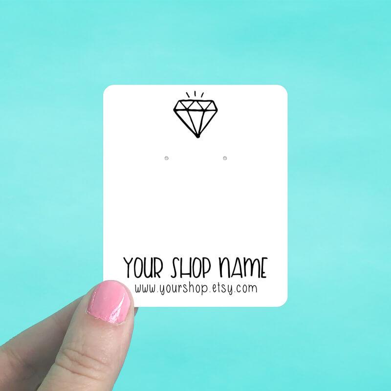 Black Diamond Jewelry Display Cards