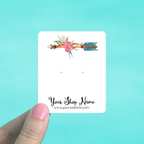 Floral Arrow Jewelry Display Cards