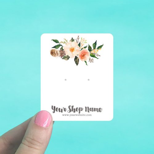 Forest Floral Jewelry Display Cards