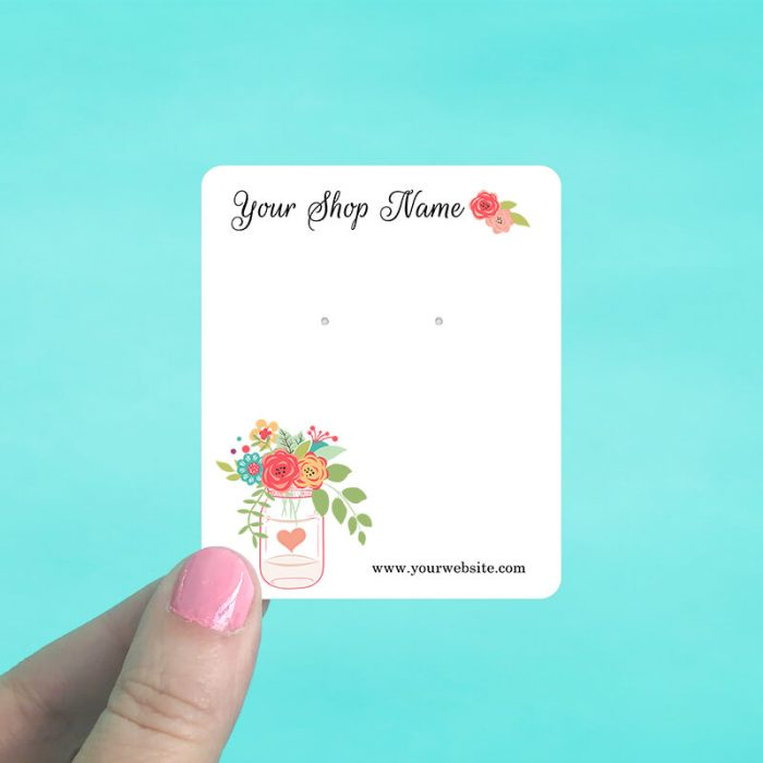 Mason Jar Floral Display Cards