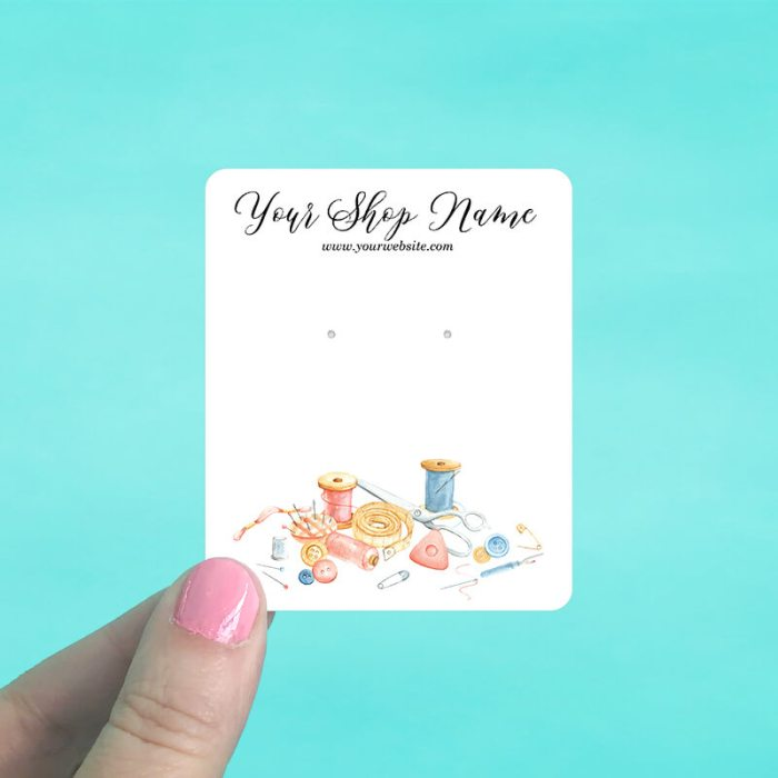 Sewing Room Jewelry Display Cards