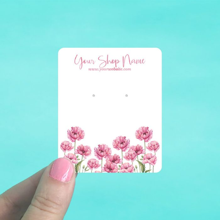 Pink Poppies Jewelry Display Cards