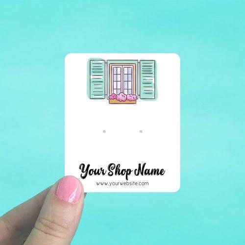 Window Garden Jewelry Display Cards