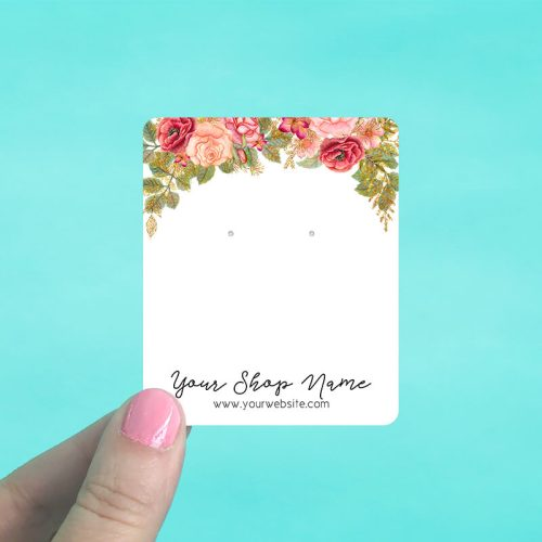 Rose Garden Jewelry Display Cards