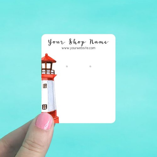 Red Lighthouse Jewelry Display Cards