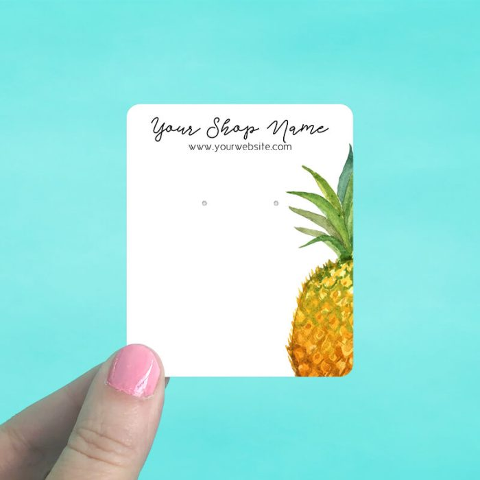 Bright Pineapple Jewelry Display Cards