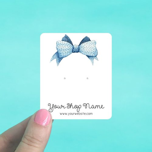 Blue Bow Jewelry Display Cards