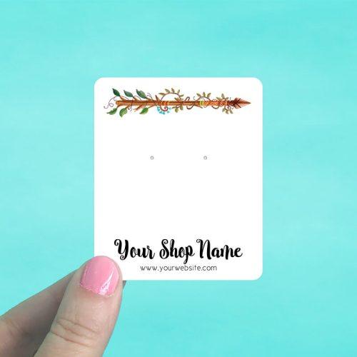 Branch Arrow Jewelry Display Cards