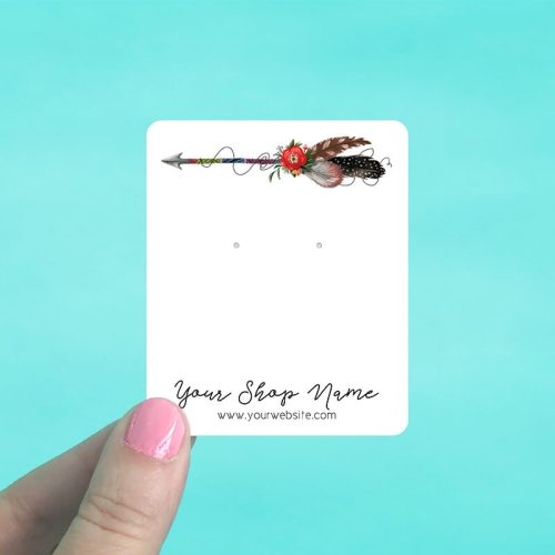 Boho Arrow Jewelry Display Cards
