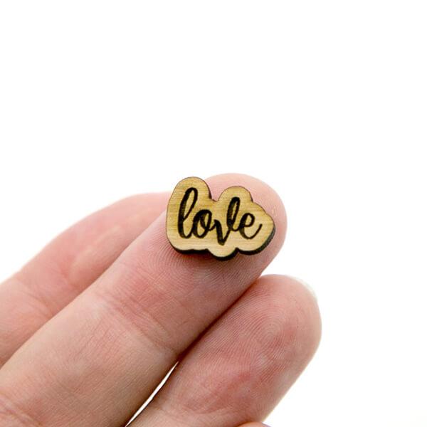 Love Wood Cabochon