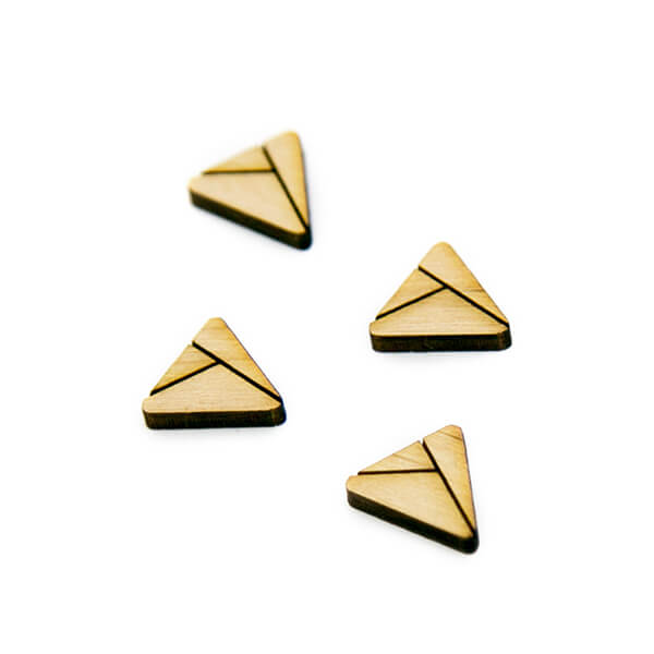 Sliced Triangle Wood Cabochon