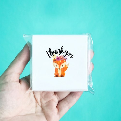 Baby Fox Thank You Note Cards