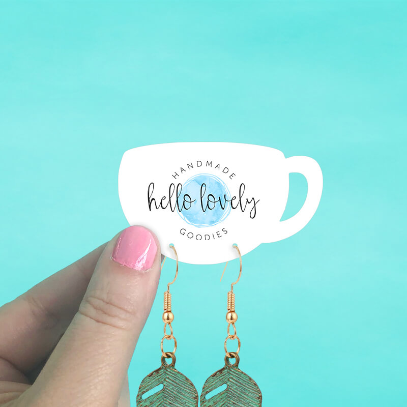 Coffee Mug Earring Cards