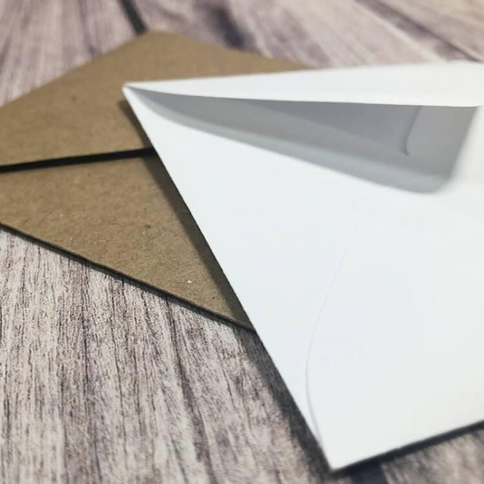 Kraft and White Vellum Mini Envelopes