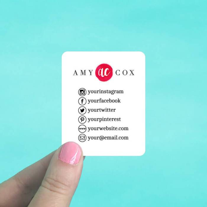 Rounded Rectangle Social Media Cards