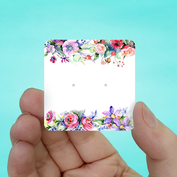 Spring Floral Stud Earring Cards
