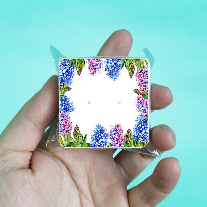Hyacinth Stud Earring Cards