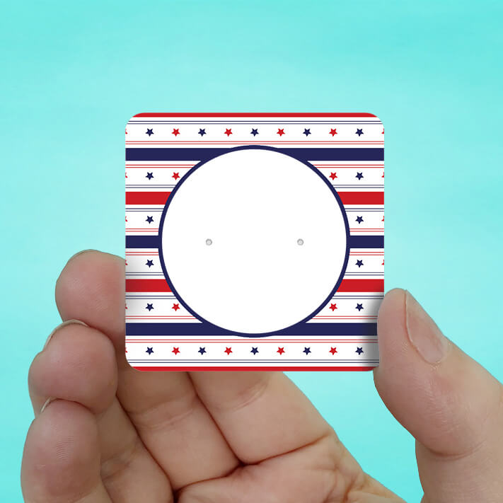 USA Patriotic Stud Earring Cards