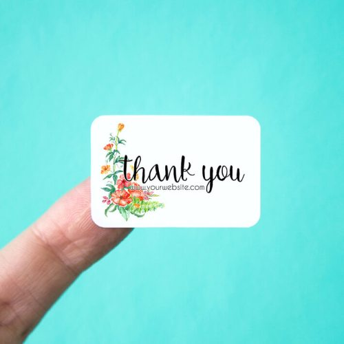 Bright Floral Personalized Thank You Stickers