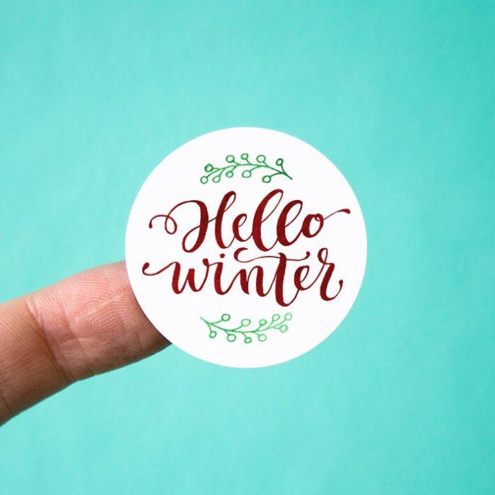 Hello Winter Stickers