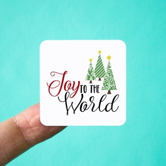 Joy to the World Square Stickers