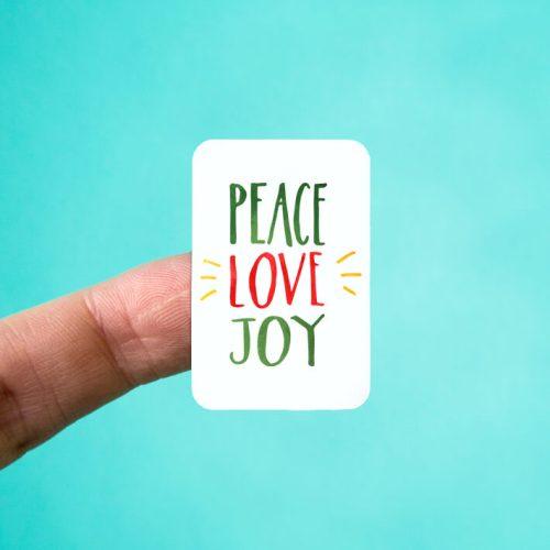 Peace Love Joy Stickers