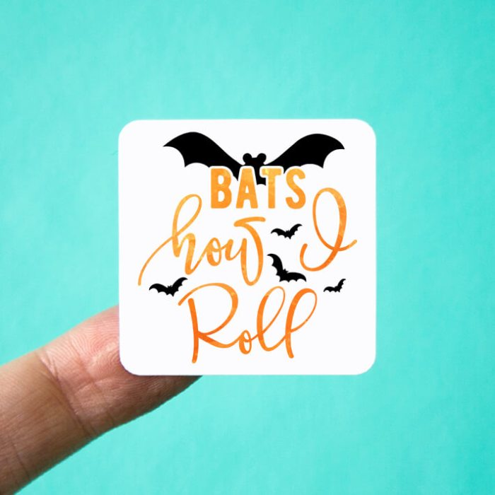 Bats How I Roll Halloween Stickers