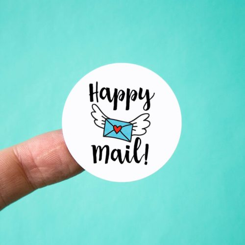 Happy Mail Flying Envelope Stickers