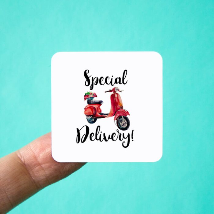 Special Delivery Square Stickers