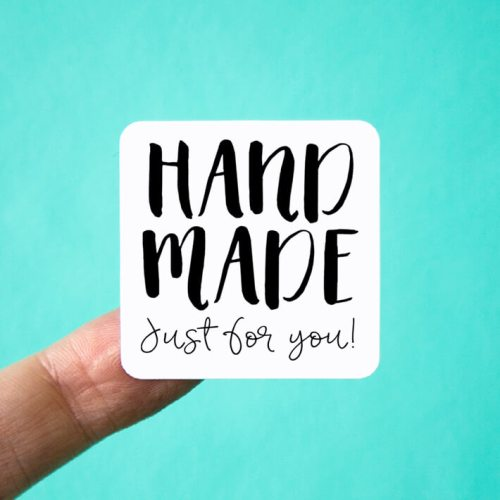 Handmade Just for You Square Stickers