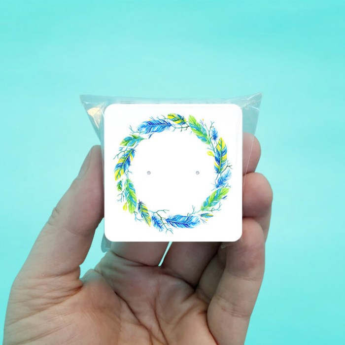 Feather Wreath Stud Earring Cards