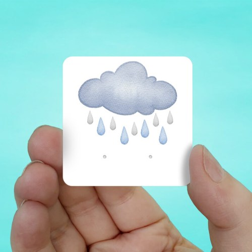 Rain Clouds Stud Earring Cards