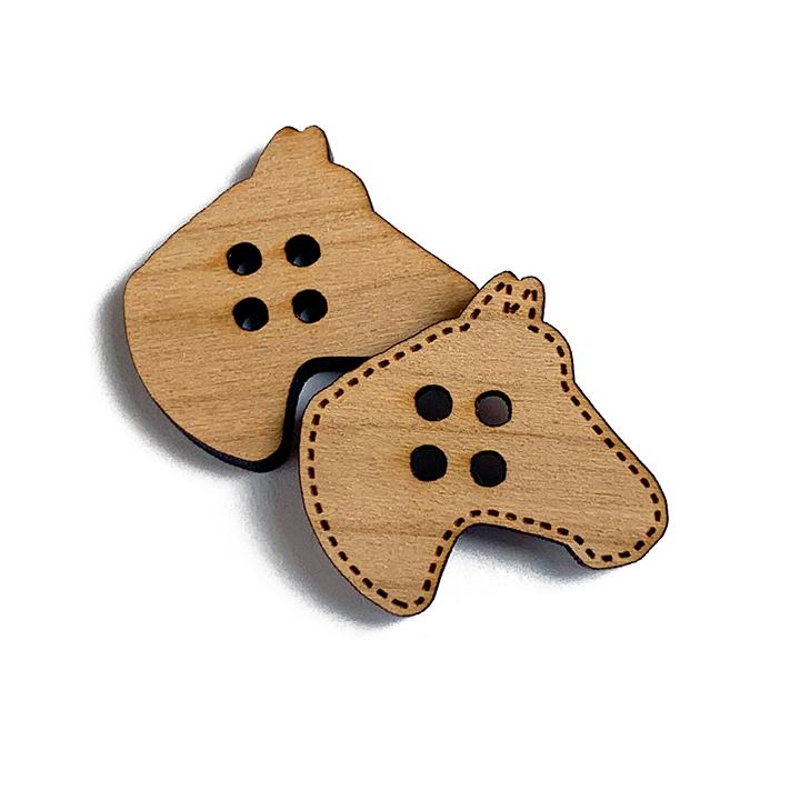 Horse Wooden Buttons