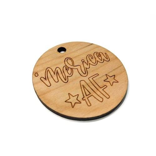 Merica AF Wooden Charms
