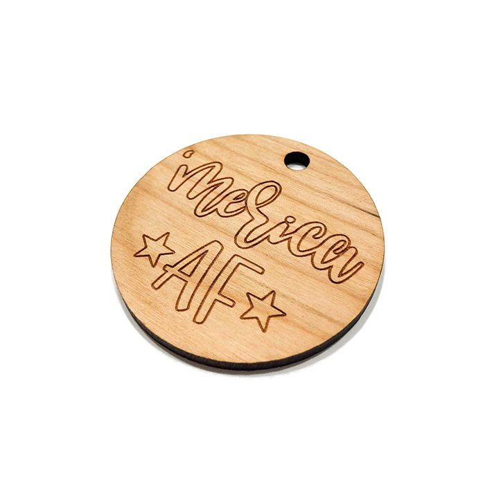 Merica AF Wooden Charms