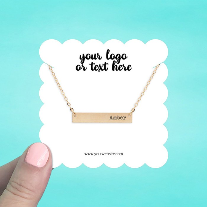 """Set of 42 3 x 3"""" Scallop Square Necklace Display Cards"""