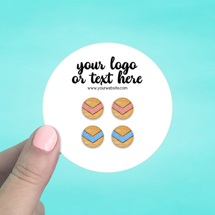 """Set of 42 3 x 3"""" Circle Earring Display Cards"""