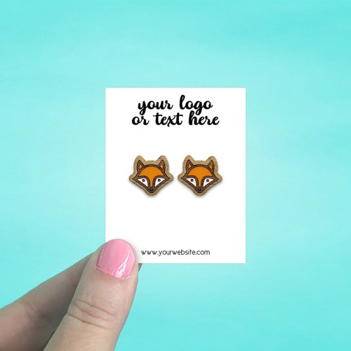 """Set of 86 2 x 2.5"""" Rectangle Earring Display Cards"""