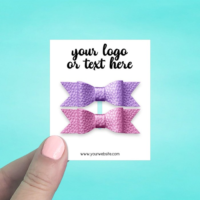 """Set of 58 2.5 x 3"""" Rectangle Hair Bow Display Cards"""