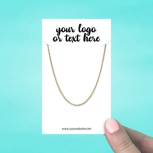"Set of 28 3 x 5"" Rectangle Necklace Display Cards"