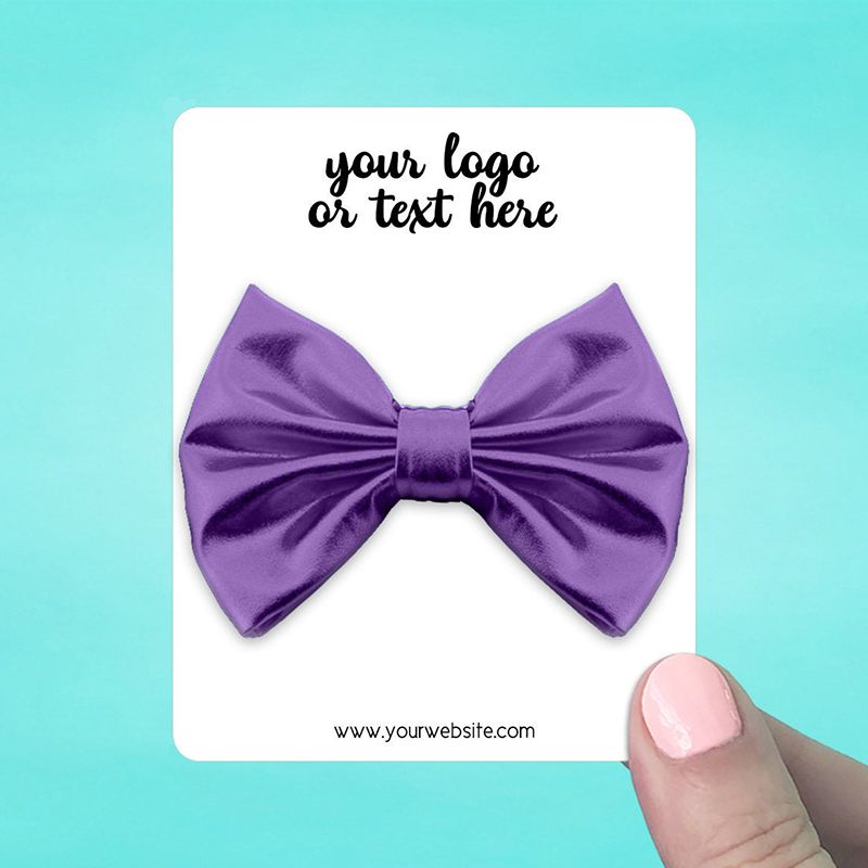 "Set of 34 3 x 3.75"" Rounded Rectangle Hair Bow Display Cards"