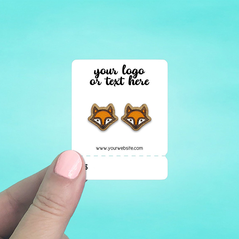 """Set of 86 2 x 2.5"""" Rounded Rectangle Tear Off Tab Earring Display Cards"""