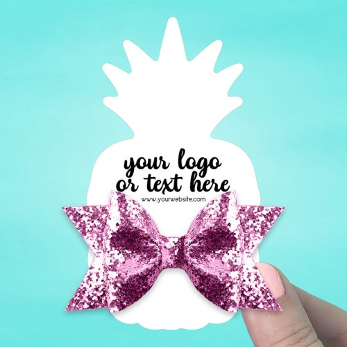 "Set of 34 2.5 x 4.5"" Pineapple Hair Bow Display Cards"