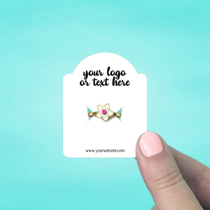 """Set of 86 2 x 2.5"""" Dome Top Ring Display Cards"""