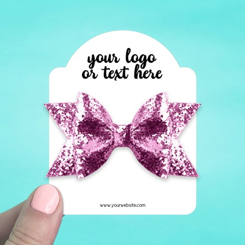 "Set of 34 3 x 3.75"" Dome Top Hair Bow Display Cards"